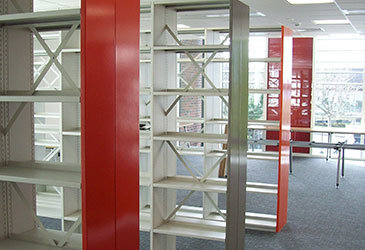 Double Skin Shelving Installation