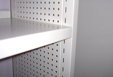 Double Skin Shelving with Perforated Side Panel