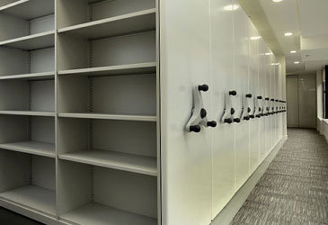 Mobile Shelving with Steel End Panels