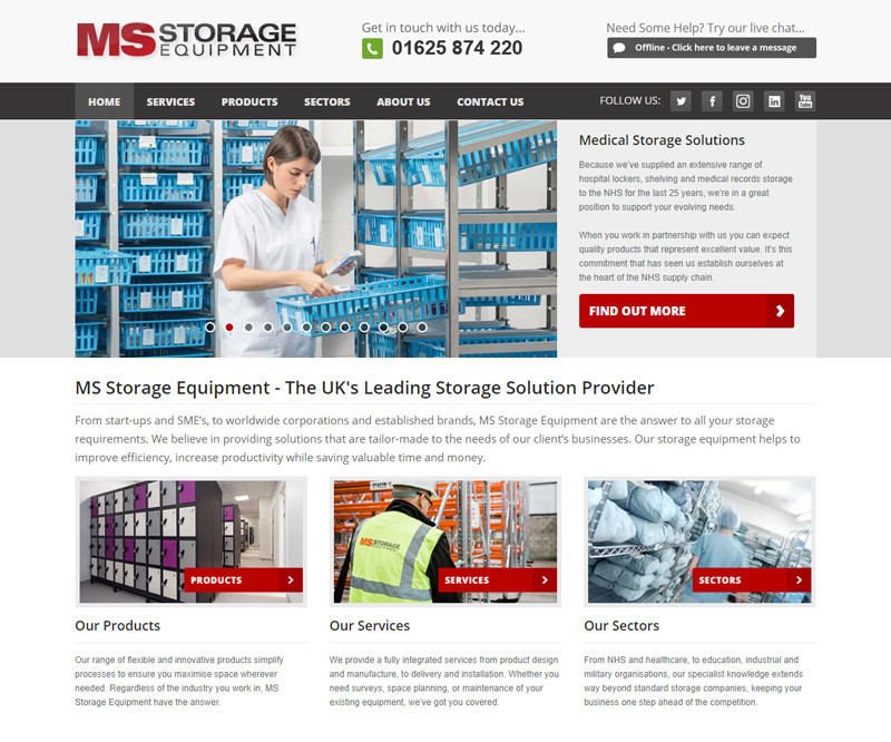 MS Storage Website